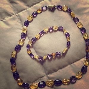 Jewelry - Amethyst & Citrine necklace and bracelet